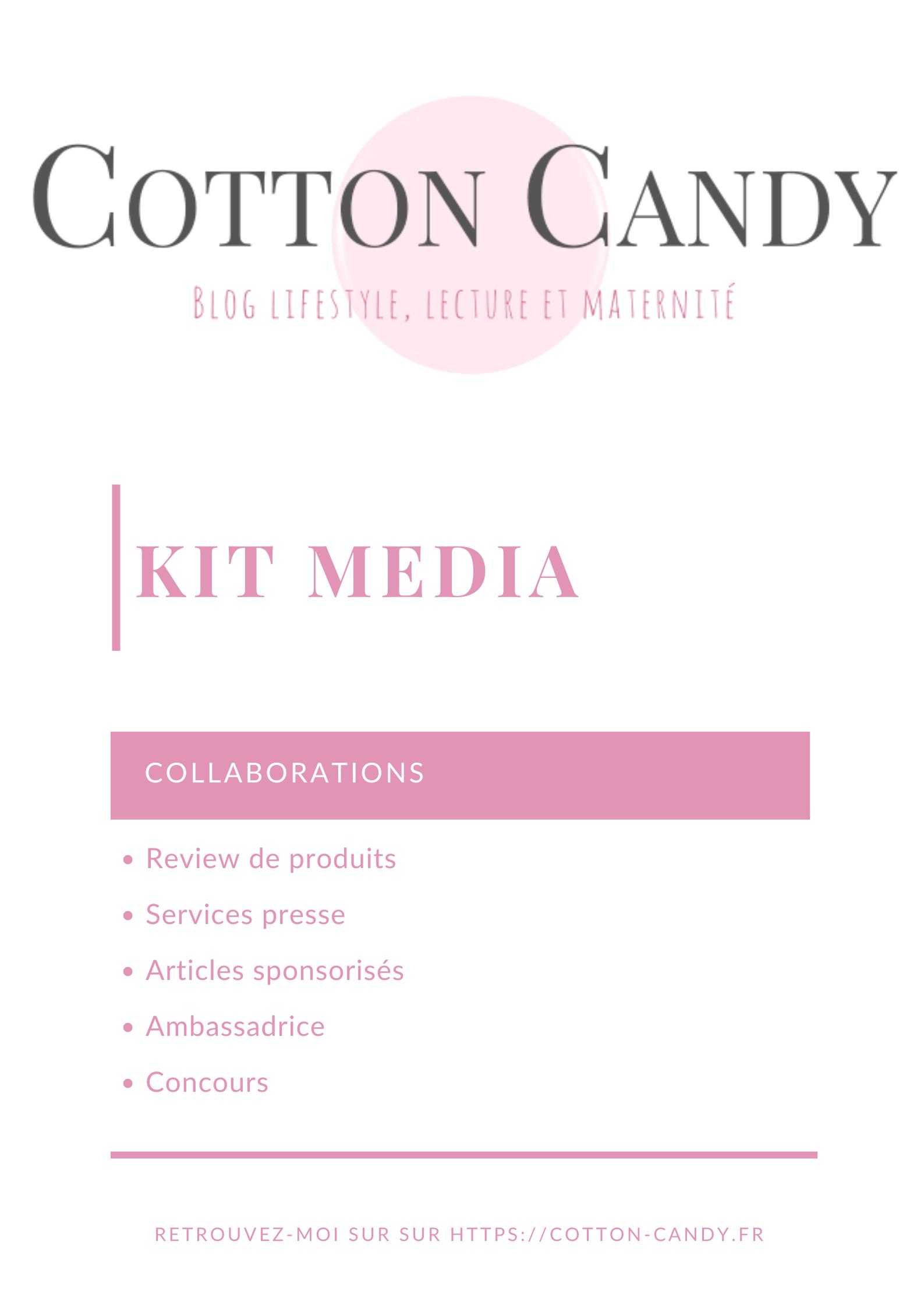 Kit Media visuel avril 2020 - COTTON CANDY blog lifestyle lecture et maternité